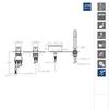 Встраиваемый термостатический смеситель на борт ванны с изливом и душевым комплектом URBAN CHIC 213303TM - фото №2