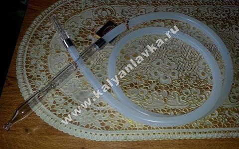 силиконовый шланг Ager со стеклянным мундштуком