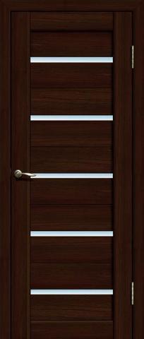 Дверь La Stella 206, стекло матовое, цвет дуб мокко, остекленная