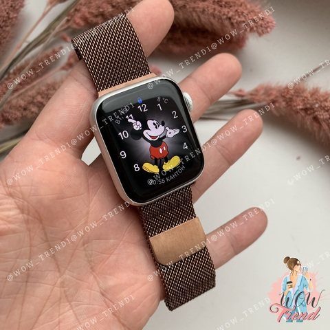 Ремешок Apple watch 38mm Milanese Loop /brown/