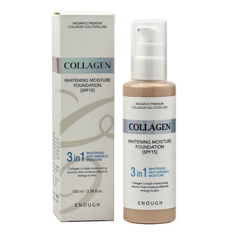 Тональные основы Тональная основа для лица ENOUGH с коллагеном 3 в 1 3in1 Collagen foundation #21 100мл 38786.970.jpg