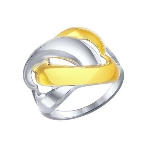 94011866- Кольцо из двухцветного серебра