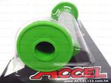 Мото грипсы ACCEL, ручки руля без отверстия, зелёные