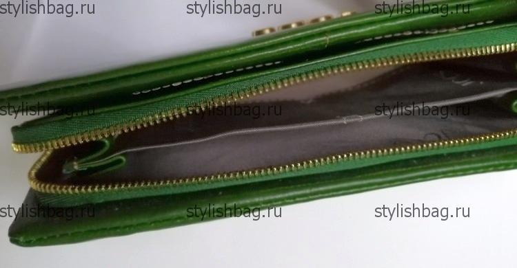 Зеленый кошелек на молнии JCCS js-3205green