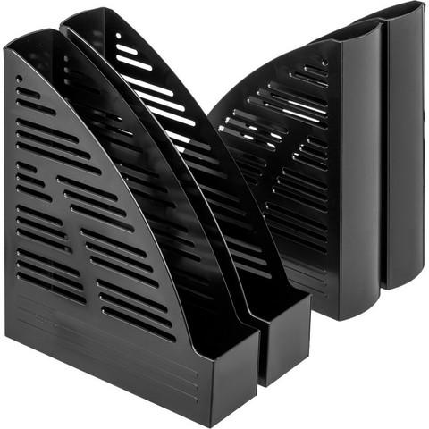 Вертикальный накопитель Attache пластиковый черный ширина 70 мм (4 штуки в упаковке)
