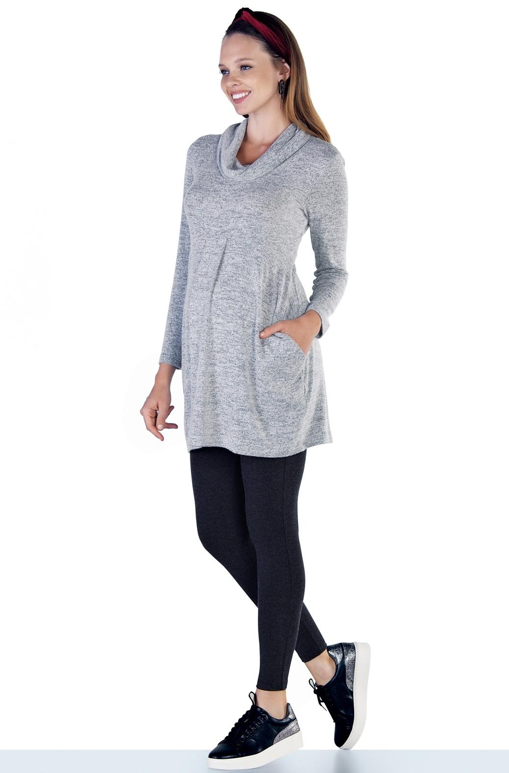 Блузка для беременных 08949 серый