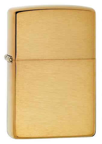Зажигалка Zippo с покрытием Brushed Brass, медь/сталь, золотистая, матовая, 36x12x56 мм123