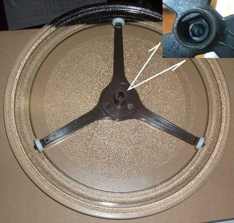 Тарелка для микроволновки LG 245mm (без крепежа с треногой), см. 95pm03