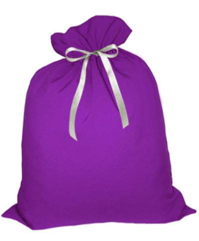 Мешок Деда Мороза фиолетовый