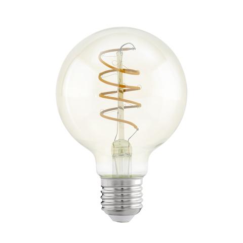 Лампа LED филаментная из стекла янтарного цвета Eglo SPIRAL LM-LED-E27 4W 260Lm 2200K G80 11722