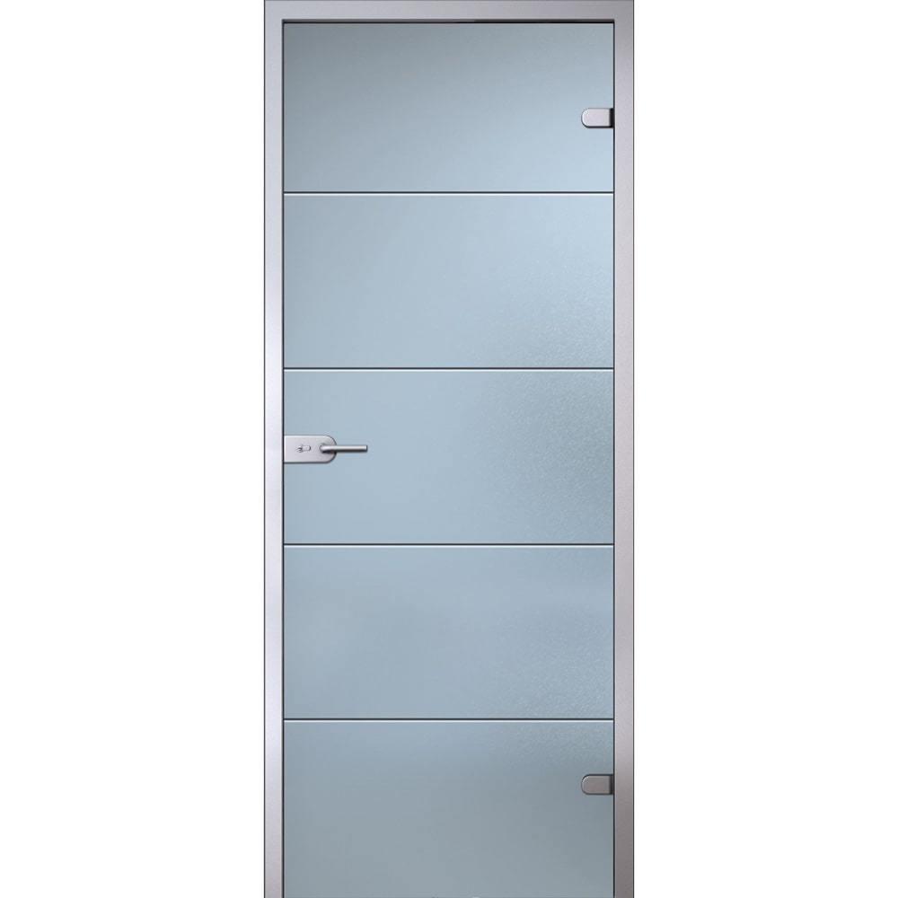 Двери комфорт класса Межкомнатная стеклянная дверь АКМА Диана беcцветное матовое стекло Dver-ST-Diana-Satinato-Dvertsov-min.jpg