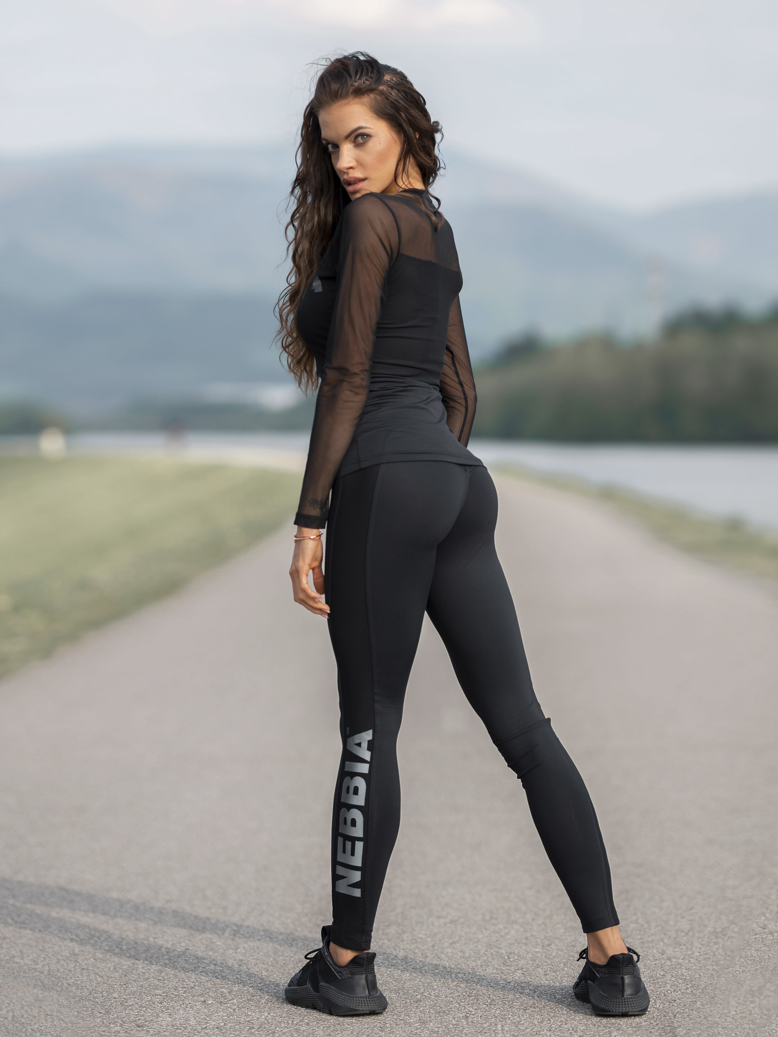 Женские лосины Nebbia Flash-Mesh leggings 663 black