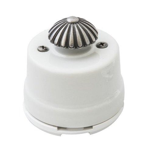 Светорегулятор, для наружного монтажа. Цвет Белое серебро. Salvador. OPDMWT.SL