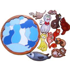 головоломка коты в разобранном виде