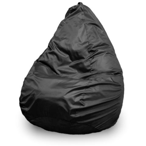 Бескаркасное кресло «Груша» L, Черный