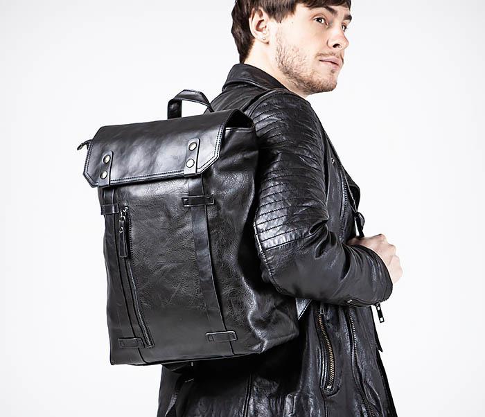 BAG532-1 Стильный мужской рюкзак из искусственной кожи