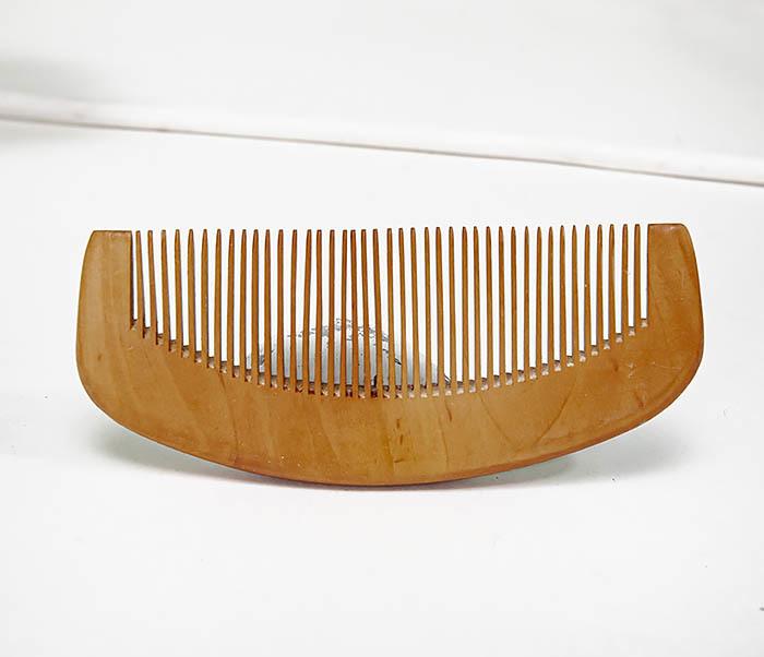 CARE154 Гребень для бороды из персикового дерева