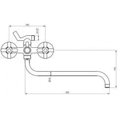 Смеситель KAISER Carlson 11055 для ванны схема