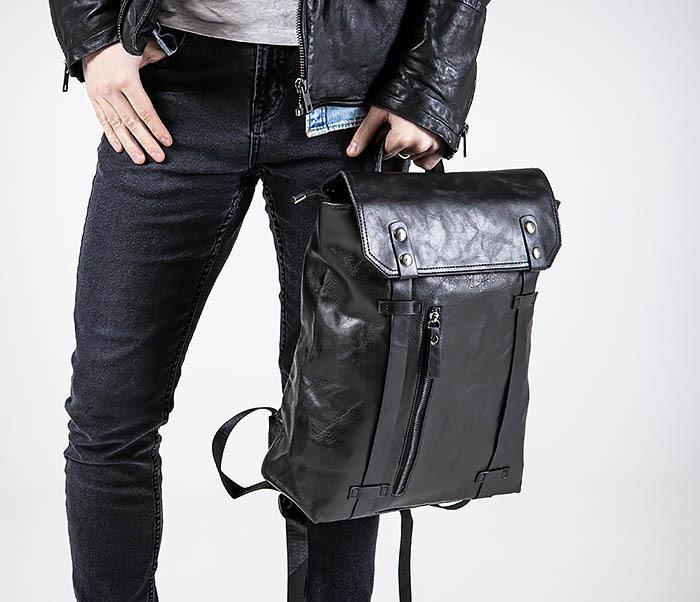 BAG532-1 Стильный мужской рюкзак из искусственной кожи фото 02