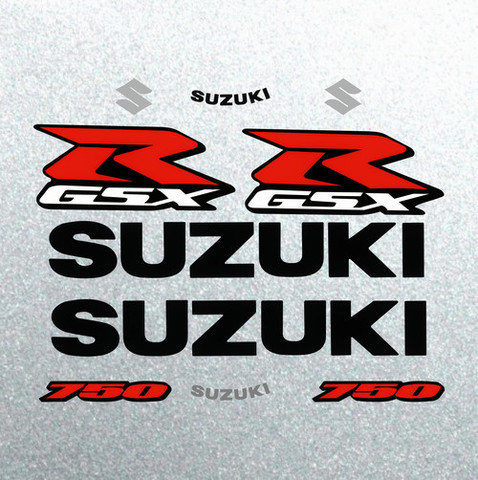 Набор виниловых наклеек на мотоцикл SUZUKI GSX-R 750