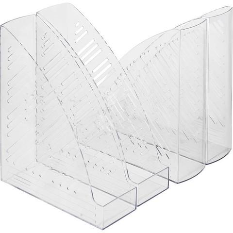 Вертикальный накопитель Attache пластиковый прозрачный ширина 85 мм (4 штуки в упаковке)