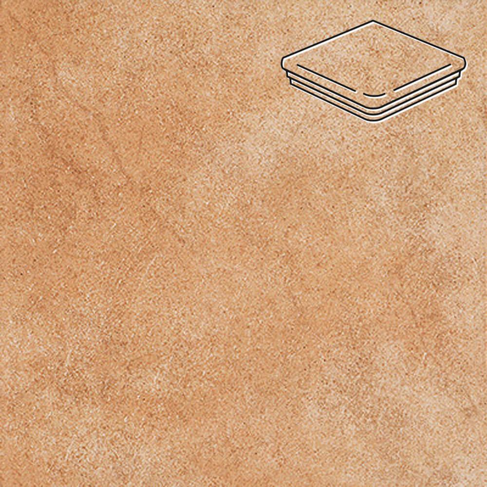 Interbau - Nature Art, Gold braun/Золотисто-коричневый 320x320x9,5, цвет 113 - Ступень флорентийская угловая