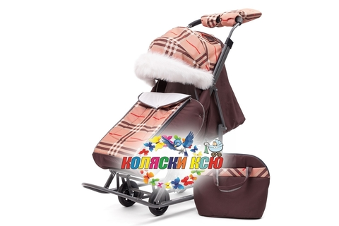 Санки коляска PIKATE Supreme «Шоколад»
