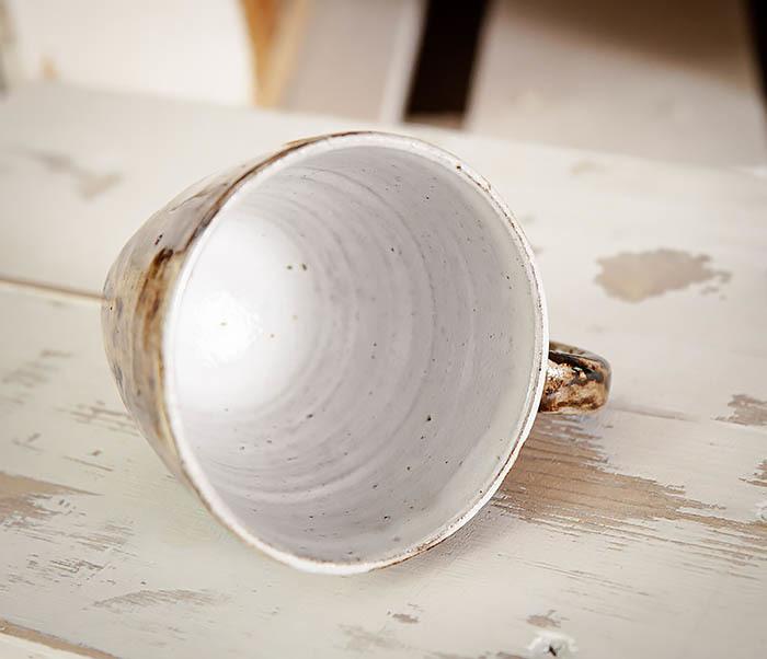 CUP106 Красивая кружка из глины для чая и кофе ручной работы (180 мл) фото 08