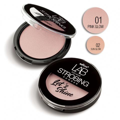 Пудра-стробинг Let`s Shine LAB colour тон 01 pink glow, Bielita, 10 г