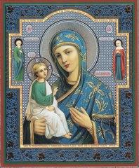 Икона Божией Матери Иерусалимская с предстоящими 11Х13 см
