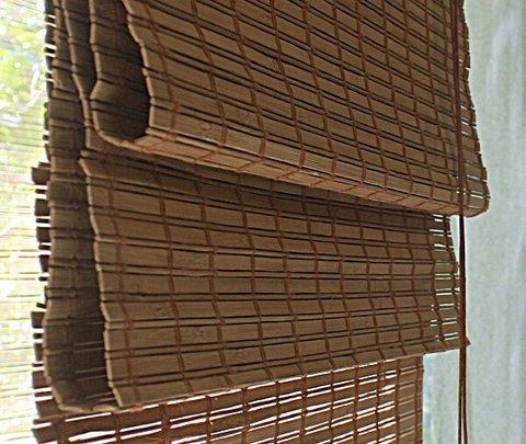 Бамбуковая римская штора Моана какао