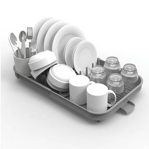 Сушилка раздвижная для посуды Duo с отделением для столовых приборов