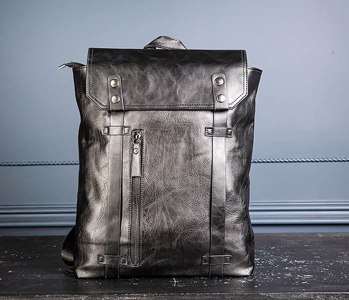 BAG532-1 Стильный мужской рюкзак из искусственной кожи фото 03