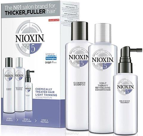 Набор XXL (Система5),NIOXIN ,300мл(шампунь)+300мл(кондиционер)+100мл (маска)