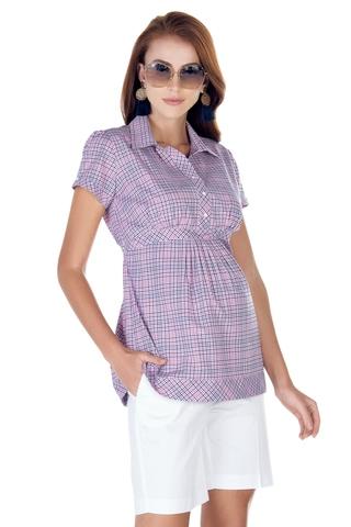 Рубашка для беременных 01395 розовый