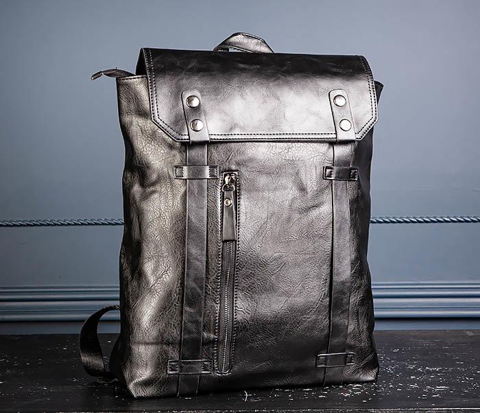 BAG532-1 Стильный мужской рюкзак из искусственной кожи фото 04