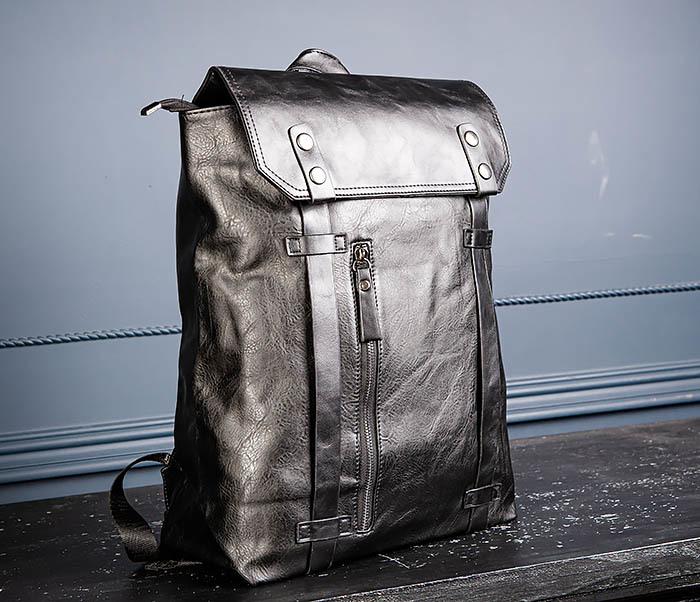BAG532-1 Стильный мужской рюкзак из искусственной кожи фото 05