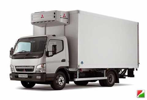 Mitsubishi Canter с установленной пневмоподвеской