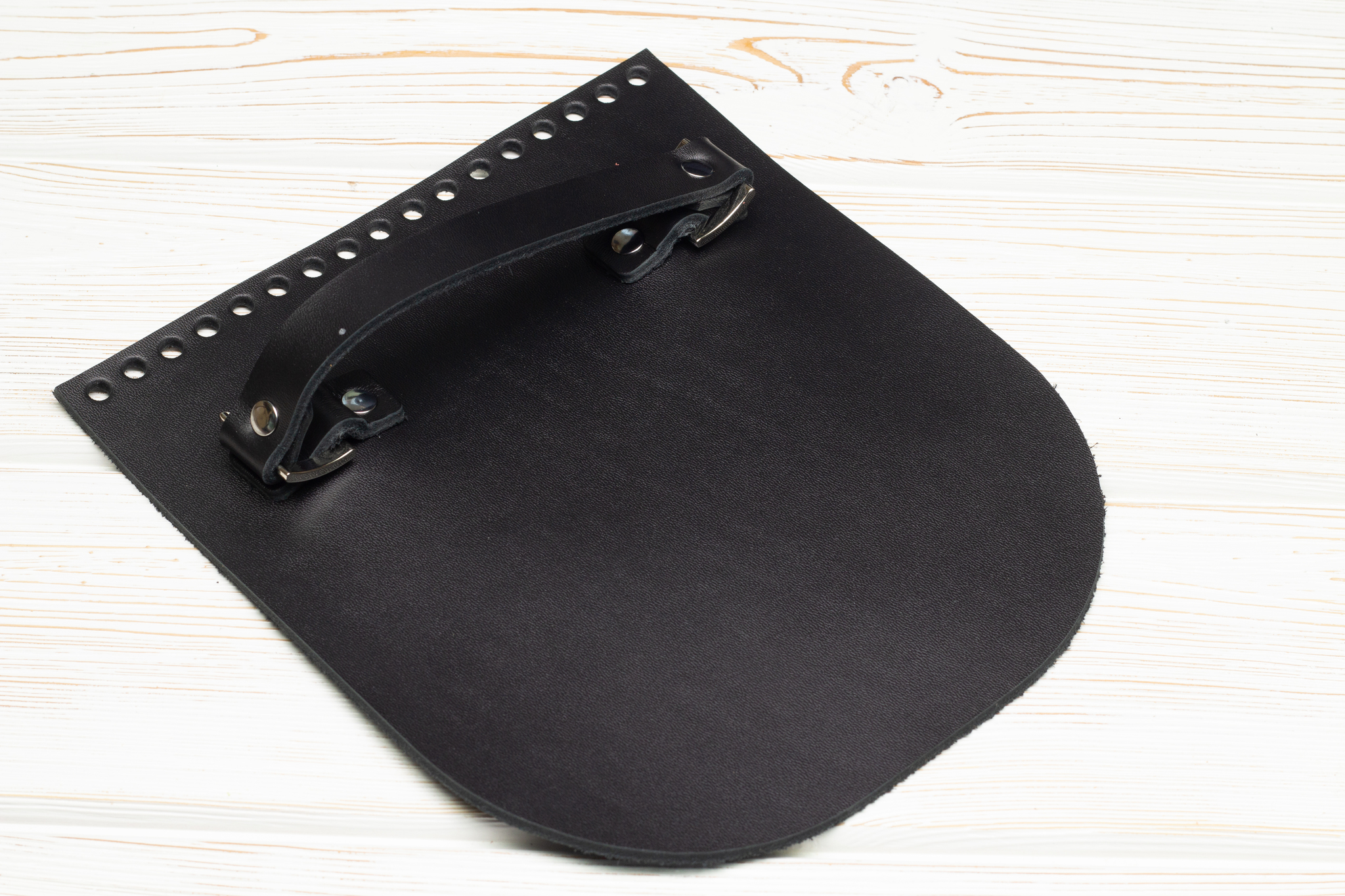 Вся фурнитура Клапан для сумочки с ручкой кожаный черный IMG_3517.jpg