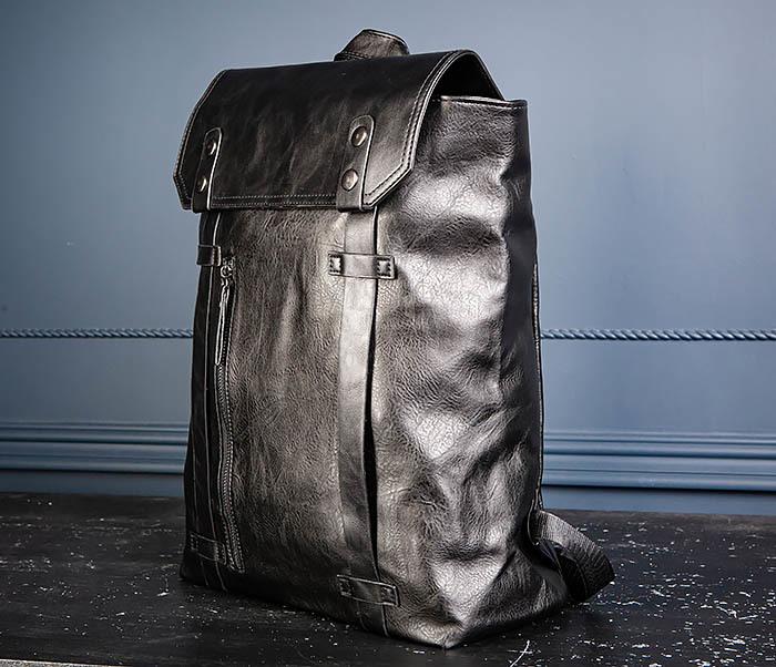 BAG532-1 Стильный мужской рюкзак из искусственной кожи фото 06