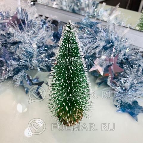 Ёлка декоративная искусственная на стол снежная маленькая (15х8 см)