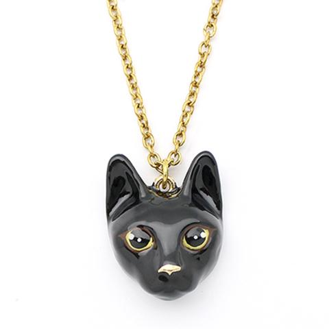 Колье Кошка (черная)