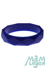 Молочный браслет из пищевого силикона МАМидея синий