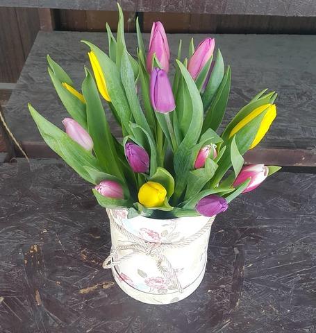 Коробка с тюльпанами 2