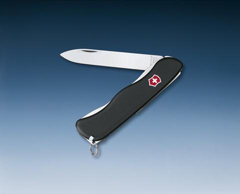Нож Victorinox Sentinel, 111 мм, 4 функции, с фиксатором лезвия, черный