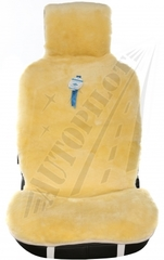Накидка из натурального меха, большой размер (Овчина, короткий ворс, цельная шкура, Австралия)