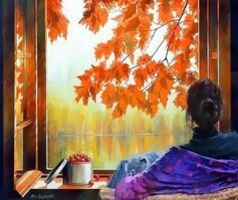 Алмазная Мозаика 40x50 Осенняя атмосфера