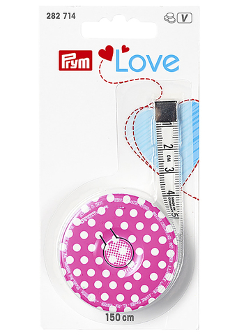 Рулетка портновская с сантиметровой шкалой 150 мм. Prym Love (Арт. 282714)
