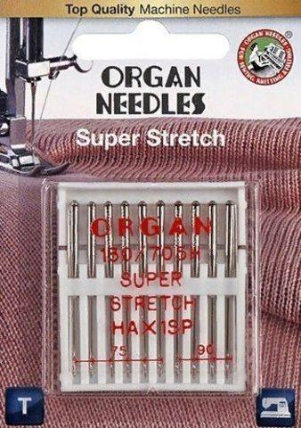 Иглы супер стрейч ORGAN № 75(6), 90(4) 10 шт