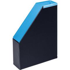 Вертикальный накопитель Bantex Модерн картонный голубой ширина 70 мм